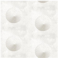 Elitis Glass VP 641 01.  White pearl polka dot wallpaper.  Click for details and checkout >>