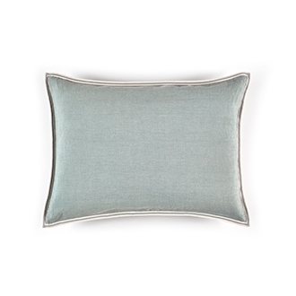 Elitis Big Philia CO 193 44 06 Amande cold blue viscose linen sold color designer accent cushion cover.  Click for details and checkout >>