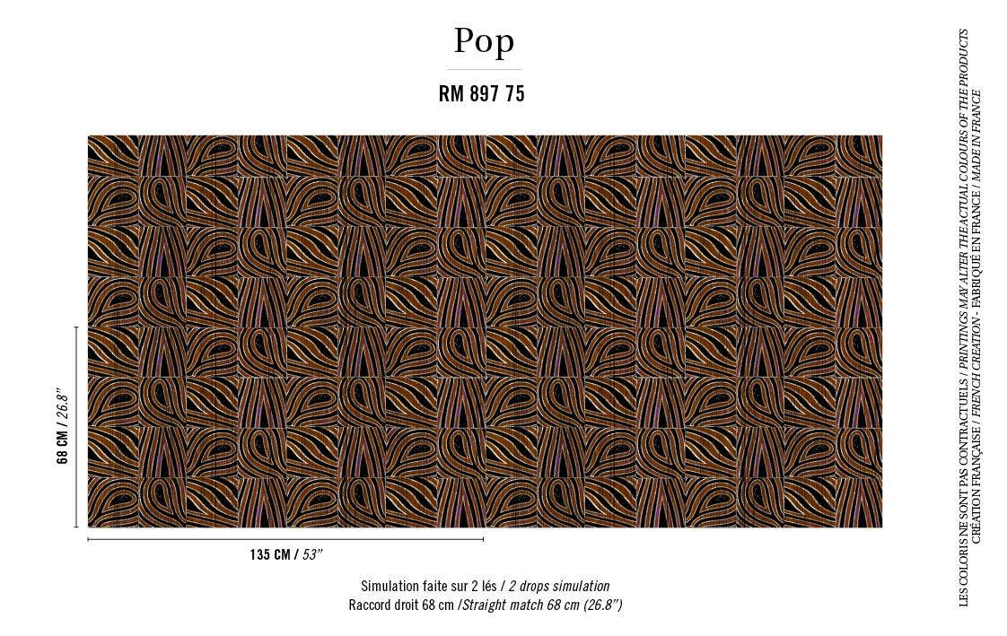 Elitis Bobale Rm 897 75 Brown Giraffe Inspired Geometric