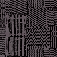 Elitis Alliances RM 580 80.  Jet Black Geometric Check Wallpaper.  Click for details and checkout >>