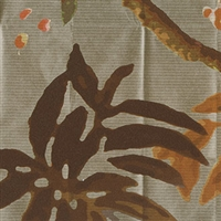 Elitis Pleats TP 181 03.  Golden Brown Floral Wallpaper.  Click for details and checkout >>