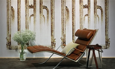 Elitis Pleats TP 190 01.  Antique Mirror Mural Wallpaper.  Click for details and checkout >>