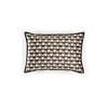 Elitis Gemmail CO 191 17 04 Eucalyptus printed velvet scallop pattern with black piping accent cushion cover.  Click for details and checkout >>