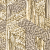 Elitis Formentera VP 717 02.  Tan multicolored mid century textured wallpaper.  Click for details and checkout >>