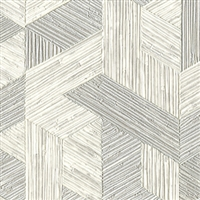 Elitis Formentera VP 717 03.  Gray multicolored mid century textured wallpaper.  Click for details and checkout >>