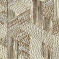 Elitis Formentera VP 717 05.  Khaki multicolored mid century textured wallpaper.  Click for details and checkout >>