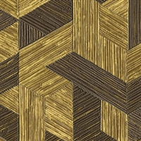 Elitis Formentera VP 717 08.  Gold multicolored mid century textured wallpaper.  Click for details and checkout >>