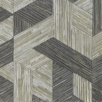 Elitis Formentera VP 717 09.  Pewter multicolored mid century textured wallpaper.  Click for details and checkout >>