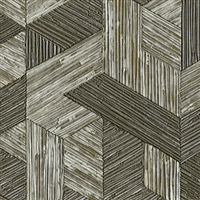Elitis Formentera VP 717 10.  Seaweed green multicolored mid century textured wallpaper.  Click for details and checkout >>