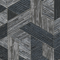 Elitis Formentera VP 717 11.  Black multicolored mid century textured wallpaper.  Click for details and checkout >>