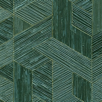 Elitis Formentera VP 717 12.  Emerald green multicolored mid century textured wallpaper.  Click for details and checkout >>