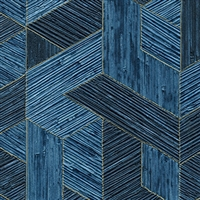 Elitis Formentera VP 717 14.  Royal blue multicolored mid century textured wallpaper.  Click for details and checkout >>