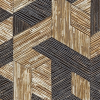 Elitis Formentera VP 718 01.  Coffee brown multicolored mid century textured wallpaper.  Click for details and checkout >>