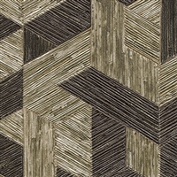 Elitis Formentera VP 718 03.  Burnt Sienna multicolored mid century textured wallpaper.  Click for details and checkout >>
