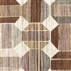 Elitis Pop RM 894 03.  Brown and tan circle geometric handcrafted wallpaper.  Click for details and checkout >>