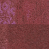 Elitis Memoires Kilim VP 654 04.  Ruby red faux horsehide patchwork print wallpaper.  Click for details and checkout >>