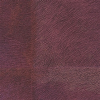 Elitis Memoires Loup VP 656 05.  Maroon red faux horsehide patchwork wallpaper.  Click for details and checkout >>