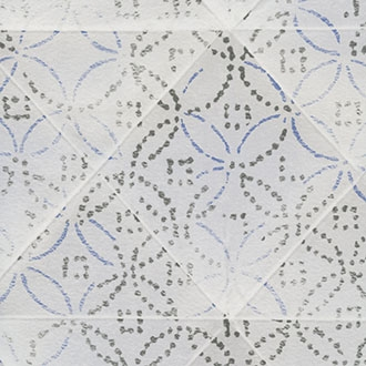 Elitis Pleats TP 172 02.  Soft White & Blue Herringbone Wallpaper.  Click for details and checkout >>