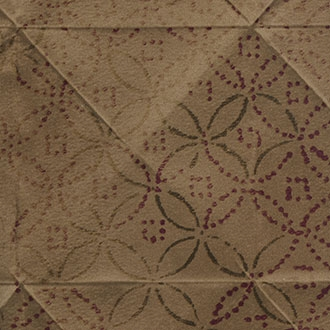 Elitis Pleats TP 172 03.  Brown Tufted Wallpaper.  Click for details and checkout >>
