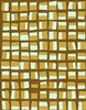 Elitis Initiation TP 312 02.  Mustard yellow and brown geometric abstract print wallpaper.  Click for details and checkout >>