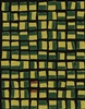 Elitis Initiation TP 312 04. Green and yellow geometric abstract print wallpaper.  Click for details and checkout >>