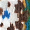 Elitis Libero RM 804 41.  Blue and brown Moroccan inspired print handcrafted wallpaper.  Click for details and checkout >>