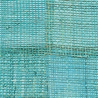 Elitis Epure RM 666 42.  Teal handmade burlap wallpaper.  Click for details and checkout >>