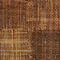 Elitis Epure RM 666 72.  Golden brown handmade burlap wallpaper.  Click for details and checkout >>