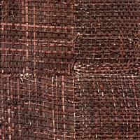 Elitis Epure RM 666 74.  Rosewood brown handmade burlap wallpaper.  Click for details and checkout >>