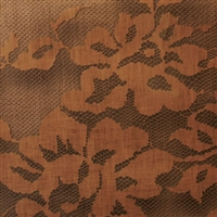 Elitis Paradisio Palazzo RM 609 75.  Metallic brown floral handmade wallpaper.  Click for details and checkout >>