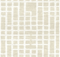 Elitis Talamone VP 853 01.  Ivory geometric textured wallpaper.  Click for details and checkout >>