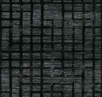 Elitis Talamone VP 853 04.  Midnight black geometric textured wallpaper.  Click for details and checkout >>