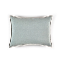 Elitis Philia CO 189 44 02  Amande blue viscose linen sold color mid size accent pillow.  Click for details and checkout >>