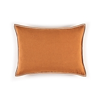 Elitis Philia CO 189 38 02  Ecureuil orange viscose linen sold color mid size accent pillow.  Click for details and checkout >>