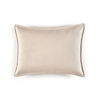Elitis Philia CO 189 16 02 Mastic cream viscose linen sold color mid size accent pillow.  Click for details and checkout >>