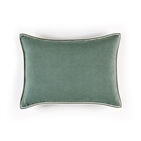 Elitis Philia CO 189 62 02   Schiste green viscose linen sold color mid size accent pillow.  Click for details and checkout >>