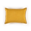 Elitis Philia CO 189 27 02 Sunny yellow viscose linen sold color mid size accent pillow.  Click for details and checkout >>
