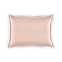 Elitis Philia CO 189 52 02  Sweet Pink viscose linen sold color mid size accent pillow.  Click for details and checkout >>
