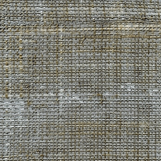 Elitis Rafia VP 601 92.  Steel gray patchwork hand woven texture vinyl wallpaper.  Click for details and checkout >>