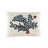 Elitis Riviera CO 187 45 02 Eucalyptus.  Blue linen embroidered botanical accent throw pillow.  Click for details and checkout >>