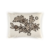 Elitis Riviera CO 187 16 02 Sand.   Taupe linen whimsical botanical accent throw pillow.  Click for details and checkout >>