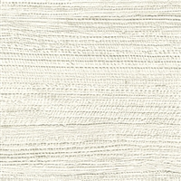 Elitis Opening VP 725 01.  White abaca fiber banana leaf textured vinyl wallpaper.  Click for details and checkout >>