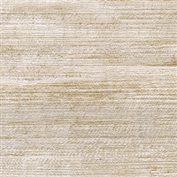 Elitis Opening VP 725 02.  Tan abaca fiber banana leaf textured vinyl wallpaper.  Click for details and checkout >>