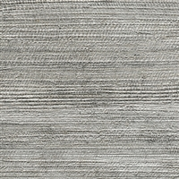 Elitis Opening VP 725 04.  Gray abaca fiber banana leaf textured vinyl wallpaper.  Click for details and checkout >>