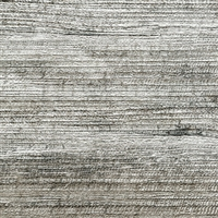 Elitis Opening VP 726 01.  Metallic gray abaca fiber banana leaf textured vinyl wallpaper.  Click for details and checkout >>