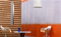 Orange and white horizontal stripe wall panoramic.  Click for details and checkout >>