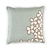 Elitis Sophia CO 188 44 01 Amande. Pastel blue viscose & linen whimsical floral accent throw pillow.  Click for details and checkout >>