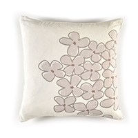 Elitis Sophia CO 188 03 01 Morning. Cream colored viscose & linen whimsical floral accent throw pillow.  Click for details and checkout >>