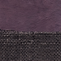 Elitis Epure RM 667 80.  Black and purple burlap horizontal stripe wallpaper.  Click for details and checkout >>