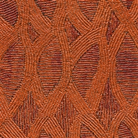 Elitis Perles VP 912 07.  Orange lace embossed vinyl beaded wallpaper. Click for details and checkout >>